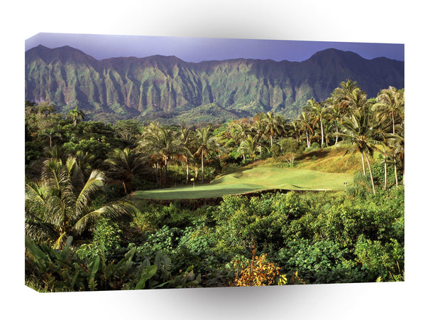 Hawaii 3rd Hole Luana Hills Oahu A1 Xlarge Canvas