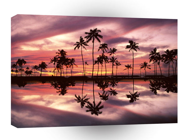 Hawaii Ala Moana Beach Park Honolulu Oahu A1 Xlarge Canvas