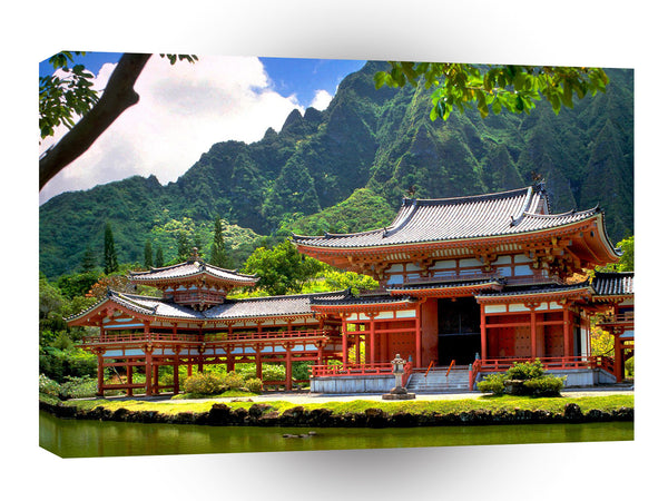 Hawaii Byodo In Temple Oahu A1 Xlarge Canvas
