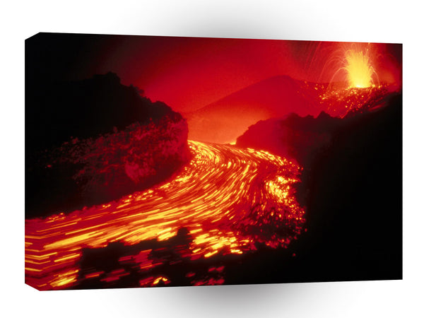 Hawaii Evening Splendor Volcanoes park A1 Xlarge Canvas