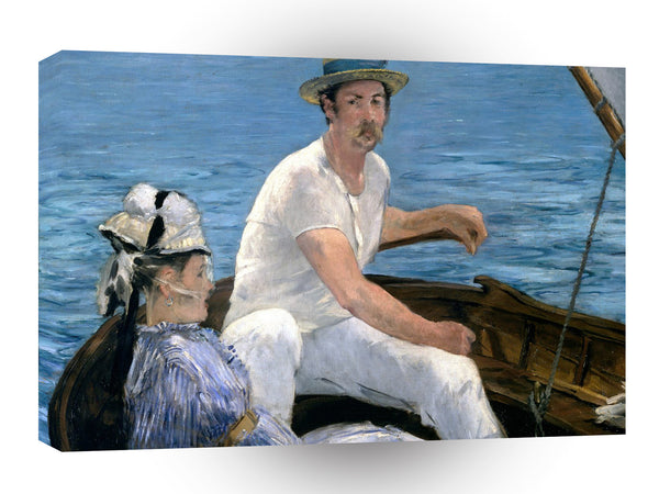 Impressionism Monet On A Boat A1 Xlarge Canvas