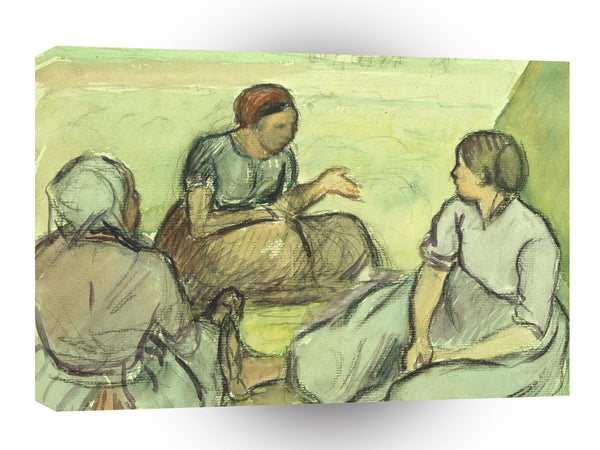 Impressionism Pissarro Three Peasant Women A1 Xlarge Canvas