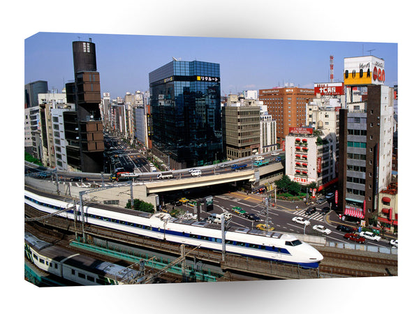 Japan Bullet Train Ginza District Tokyo A1 Xlarge Canvas