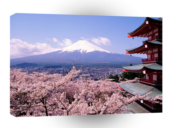 Japan Cherry Blossoms And Mount Fuji A1 Xlarge Canvas