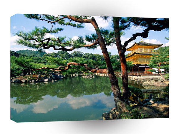 Japan Kinkaku Ji Temple Kyoto A1 Xlarge Canvas