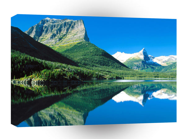 Lake Ains Mirrored St Mary Glacier Park Montana A1 Xlarge Canvas