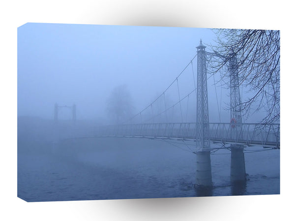 Landscape Historical Bridge Fog A1 Xlarge Canvas