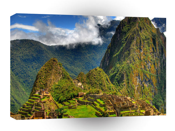 Landscape Historical City Mountains A1 Xlarge Canvas