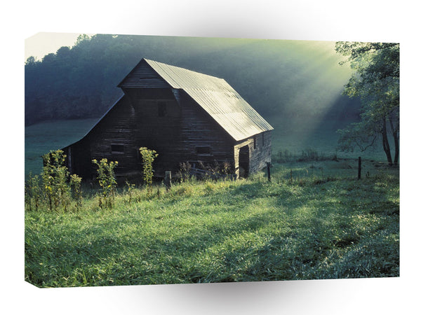 Landscape Historical Wooden Hut A1 Xlarge Canvas