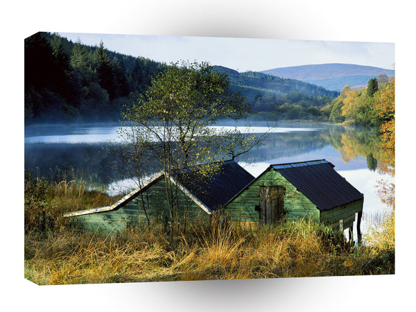 Landscape Old Hut Lake A1 Xlarge Canvas