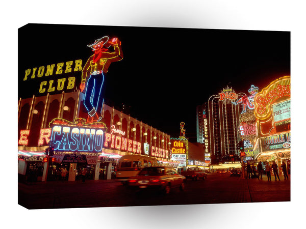 Las Vegas Howdy Folks Welcome To Las Vegas Nevada A1 Xlarge Canvas