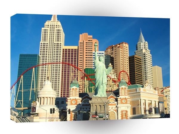Las Vegas New York Casino Las Vegas Nevada A1 Xlarge Canvas