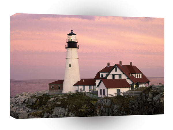 Lighthouses After Glow Portland Head Maine A1 Xlarge Canvas