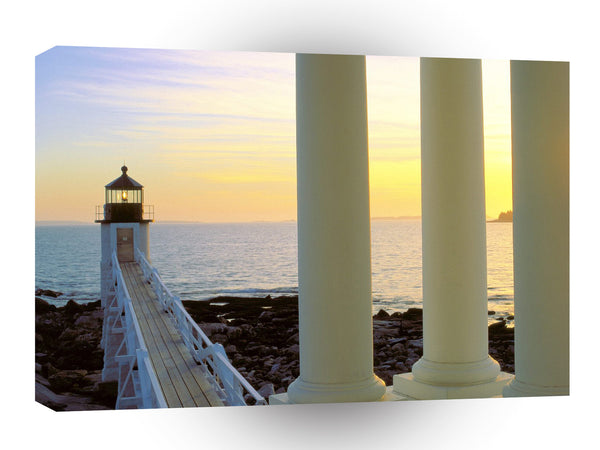 Lighthouses At Sunset Marshall Point Maine A1 Xlarge Canvas