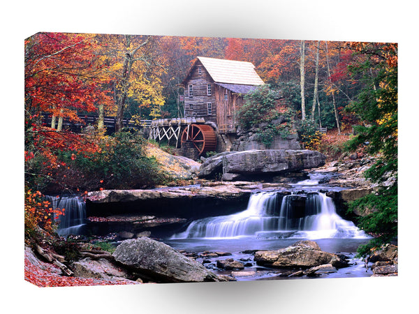 Mills Glade Creek Grist Mill Babcock Virginia A1 Xlarge Canvas
