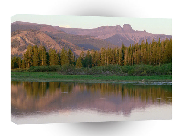 Mountain Absarokameus Yellowstone Lake Wyoming A1 Xlarge Canvas