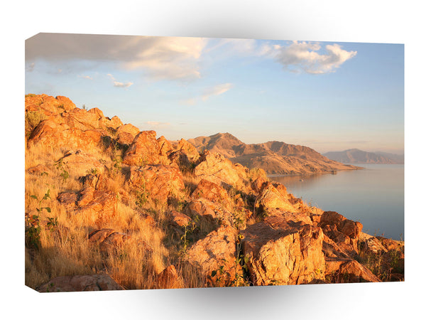 Mountain Antelope Island Sunset A1 Xlarge Canvas