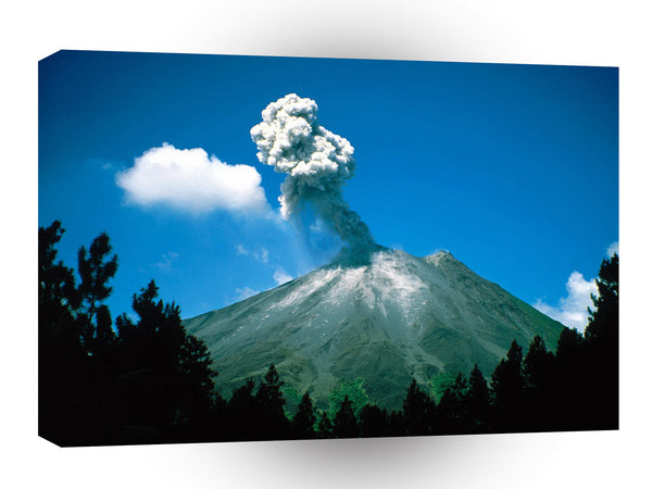 Mountain Arenal Erupting Costa Rica A1 Xlarge Canvas