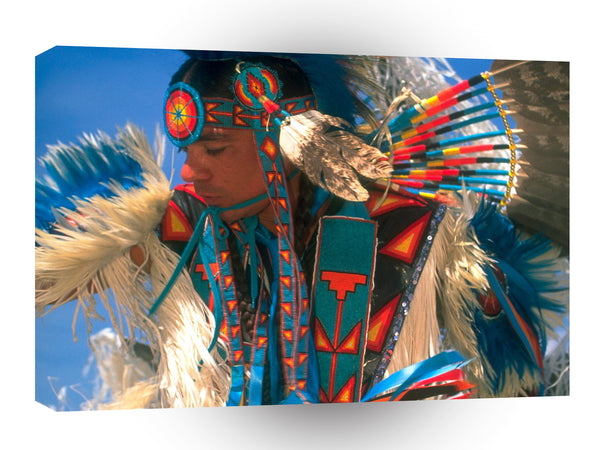 Native Americans Colorful Regalia A1 Xlarge Canvas