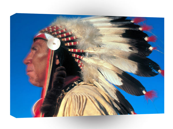 Native Americans Majestic Profile A1 Xlarge Canvas