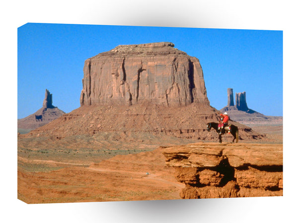 Native Americans Navajo On Horseback Monument Valley Arizona A1 Xlarge Canvas