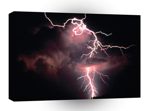 Nature Forces Electric Evening Lightning A1 Xlarge Canvas