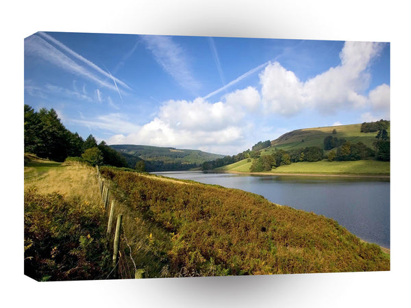 Nature Lakeside British Reservior A1 Xlarge Canvas