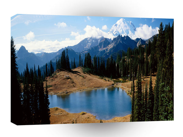 Nature Lakeside Natures Mountain A1 Xlarge Canvas