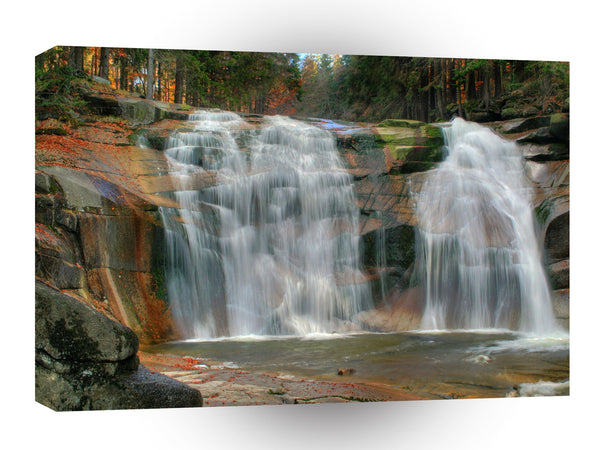 Nature River Autumn Sheer Falls A1 Xlarge Canvas