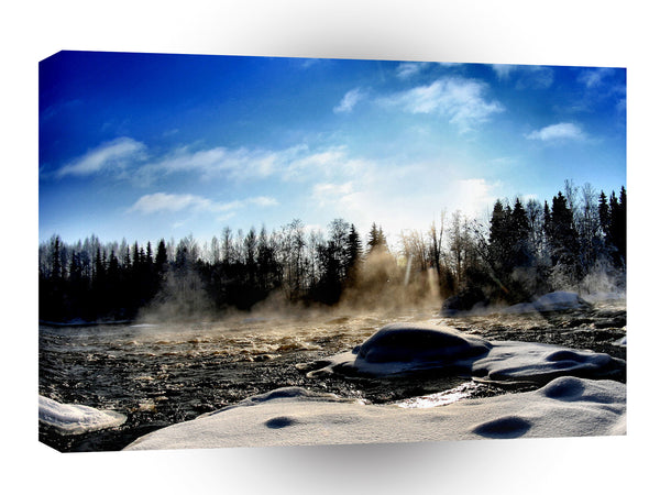 Nature River Daytime Thawing A1 Xlarge Canvas