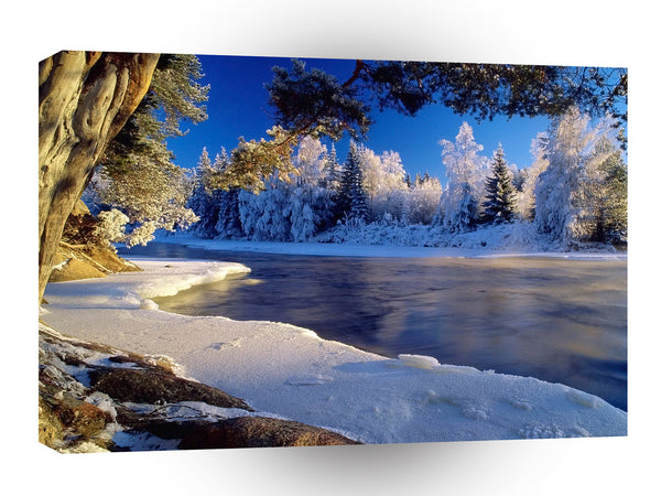 Nature River Ice Flow A1 Xlarge Canvas