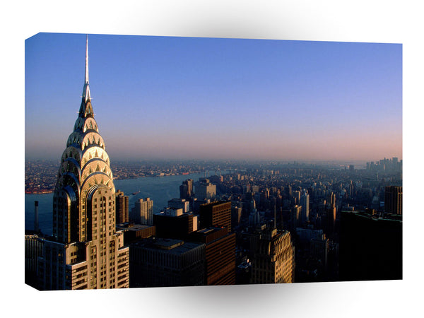 New York Birds Eye View Of New York City A1 Xlarge Canvas