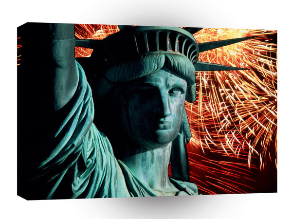 New York Celebrating Lady Liberty A1 Xlarge Canvas