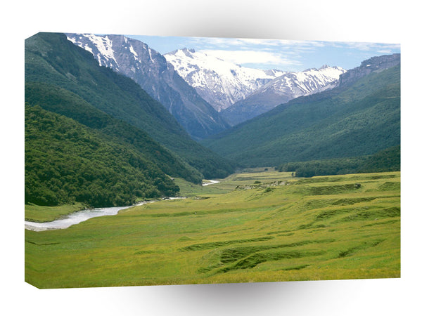 New Zealand Cattle Flats Dart River A1 Xlarge Canvas