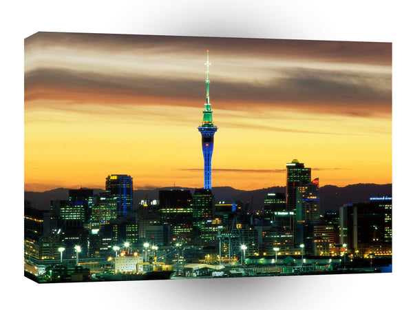 New Zealand Evening Glow Auckland A1 Xlarge Canvas