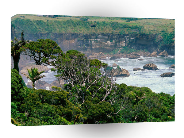 New Zealand Misty Waters A1 Xlarge Canvas