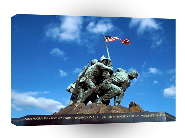 Patriotic Iwo Jima Memorial National Cemetery Washington A1 Xlarge Canvas
