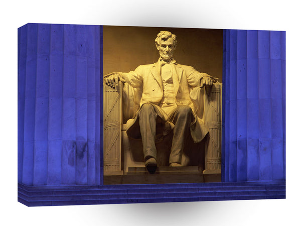 Patriotic Lincoln Memorial Washington A1 Xlarge Canvas