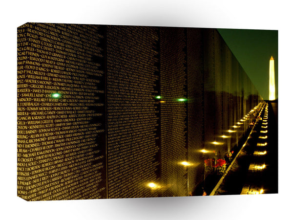 Patriotic Night View Vietnam Veterans Memorial A1 Xlarge Canvas