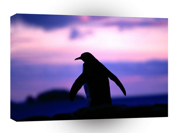 Penguin Antarctic Twilight King A1 Xlarge Canvas