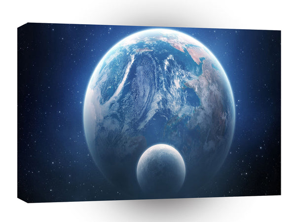 Planets Sci Fi Earth Moonshot A1 Xlarge Canvas
