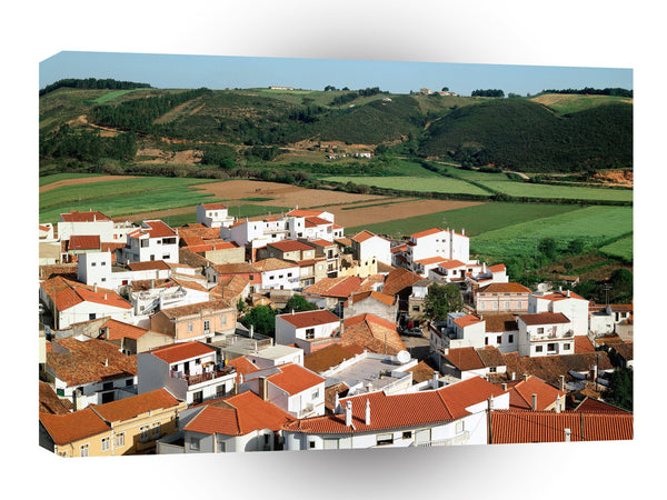 Portugal Rooftops Of Odeceixe A1 Xlarge Canvas
