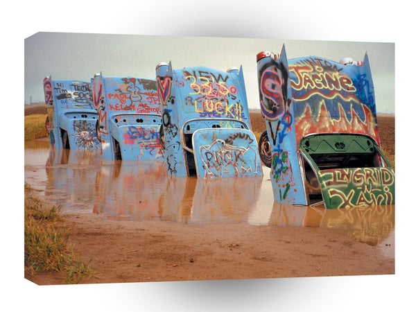 Route 66 Cadillac Ranch Sculpture West Of Amarillo Texas A1 Xlarge Canvas