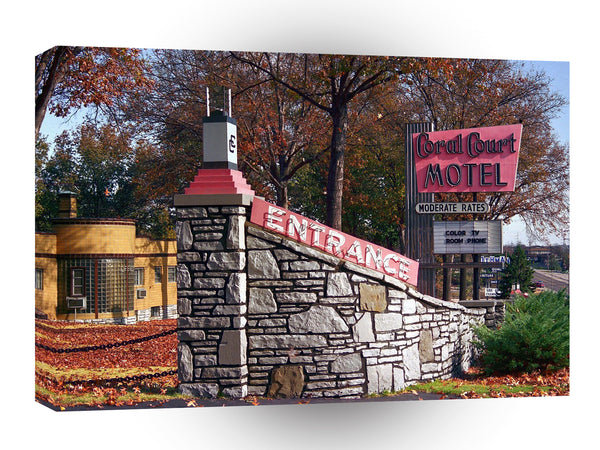 Route 66 Coral Court Motel Formerly Of St Louis Missouri A1 Xlarge Canvas
