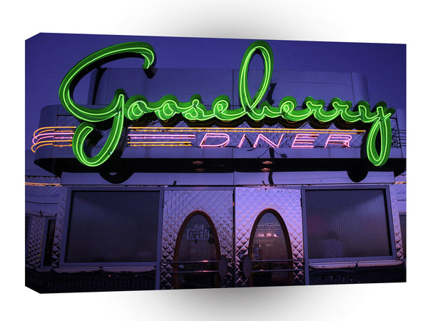 Route 66 Gooseberry Diner Formerly Of Carthage Missouri A1 Xlarge Canvas