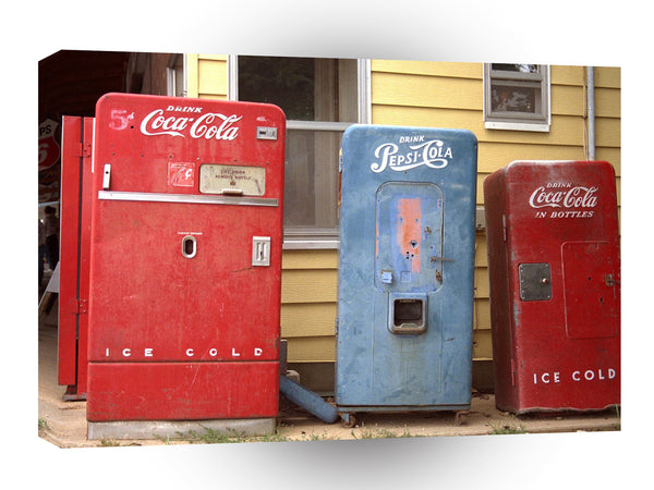 Route 66 Old Coke And Pepsi Machines Rolla Missouri A1 Xlarge Canvas