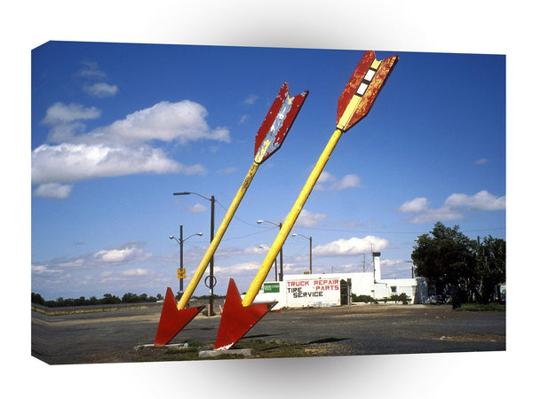 Route 66 Twin Arrows Gas Station Twin Arrows Arizona A1 Xlarge Canvas