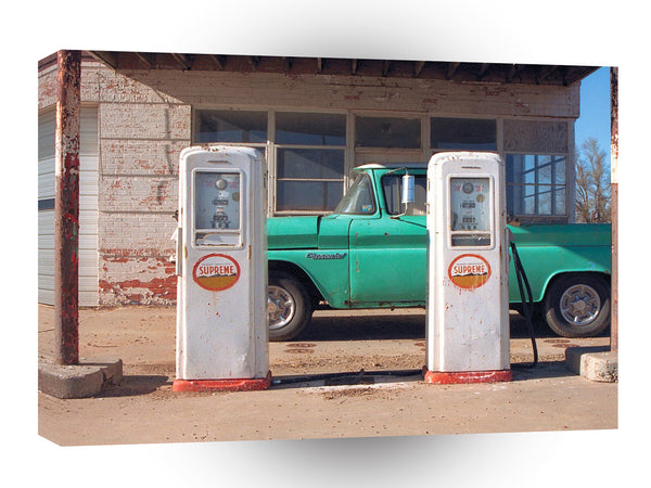Route 66 Vintage Gas Pumps Groom Texas A1 Xlarge Canvas