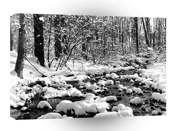 Scene Icy Cold River Ontario A1 Xlarge Canvas
