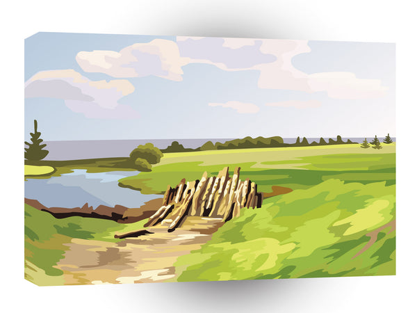 Scenery Beaver Den Day A1 Xlarge Canvas